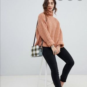 Free people fluffy fox knit sweater